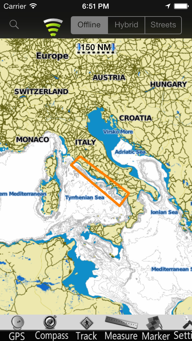 Lazio-Campania GPS Nautical charts