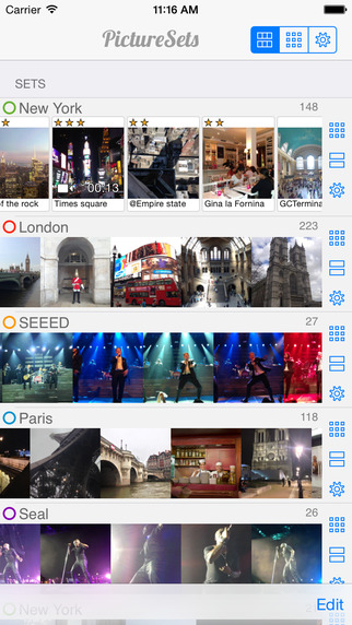 PictureSets - Tell stories by organizing annotating your photos videos on the Camera Roll