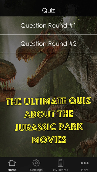 Quiz Game for the Jurassic Park Movies - Including Questions about Jurassic World and general knodwl