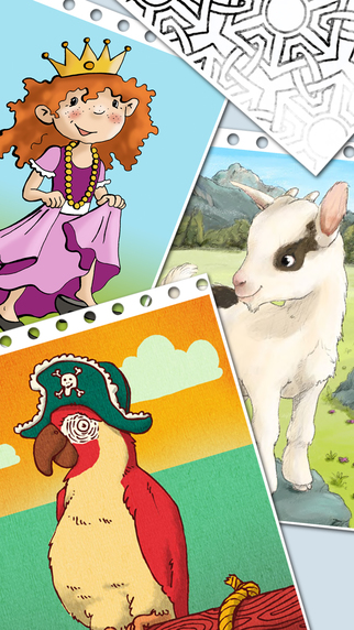 Invisible Pix - Magic picture and colouring book with many themes to discover and colour