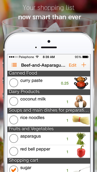 Shopeat - Recipes to shopping list