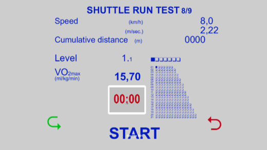 Multi Stage Shuttle Run Tests