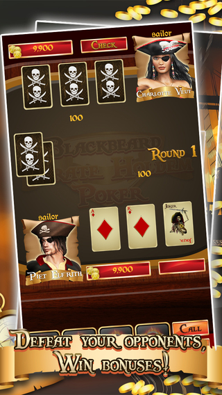 Blackbeard Pirate Card Holdem Poker - Fun Paradise Casino Vegas Fantasy FREE
