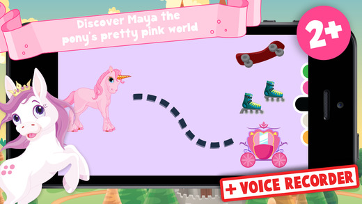 Kids Puzzle Teach me ponies for girls - Learn about pink ponies cute fairies and princesses