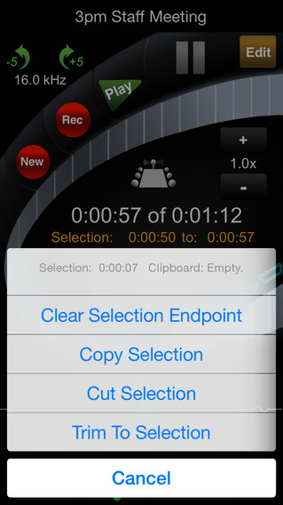 HT Professional Recorder iPhone Screenshot 3