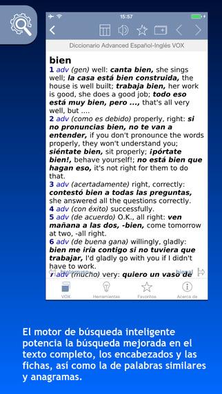 Diccionario Advanced English-Spanish Español-Inglés VOX