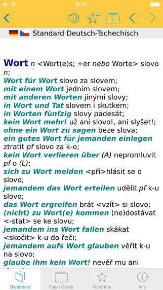 Czech German Dictionary Standard