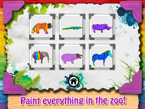 Paint My Zoo - Magic 3D Animal and Dinosaur Coloring iPad Screenshot 5