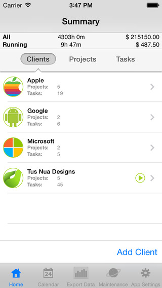 myWorkTime Lite - Timesheet Work Task Time and Billing Tracker