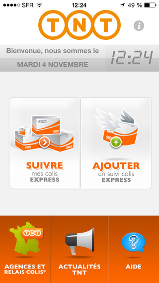 Suivi Colis TNT iPhone Screenshot 1