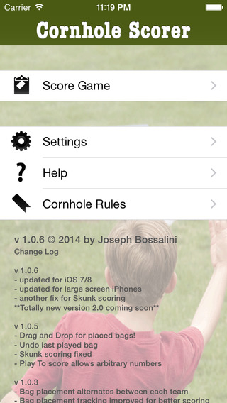 Cornhole Scorer iPhone Screenshot 4