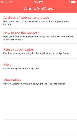 WhereAmINow - App & Widget
