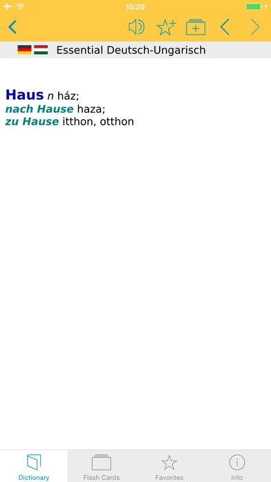 Hungarian <-> German Dictionary Langenscheidt Essential iPhone Screenshot 5