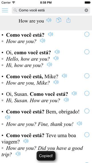 Portuguese Translator + Bilingual Sentences Inglês - Português Tradutor