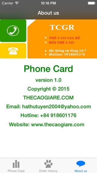 Phone Card from Hau Son Company