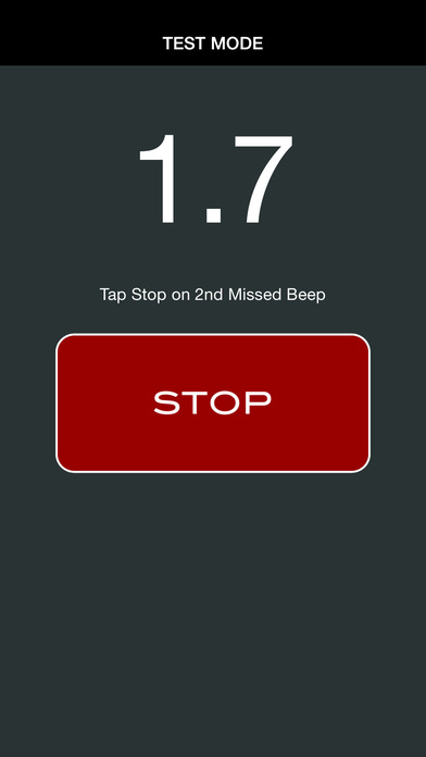 BEEP TEST SLIM iPhone Screenshot 2