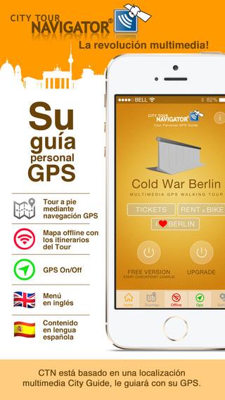 Berlín guía Guerra fría visita guiada paseo GPS HD
