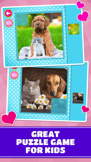 Animal Love: Doggies Kitties - Logic Game for Toddlers Preschool Kids Little Boys and Girls