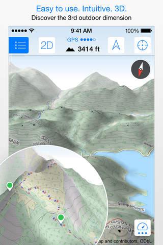 iphone Maps 3D PRO - GPS Tracks für Fahrrad,  Wandern,  Ski & Outdoor Screenshot 0