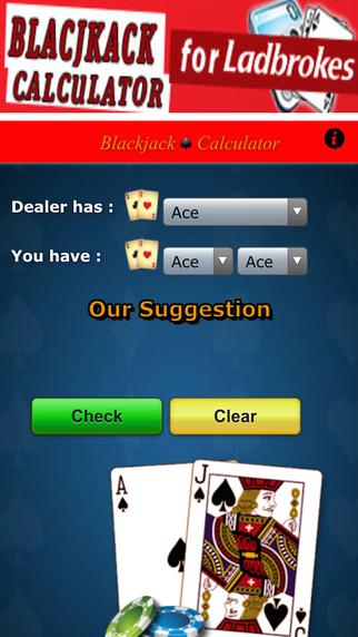 Blackjack Calculator for Ladbrokes