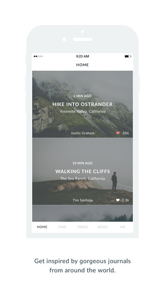 Wander Co – Location-based Photo Journals