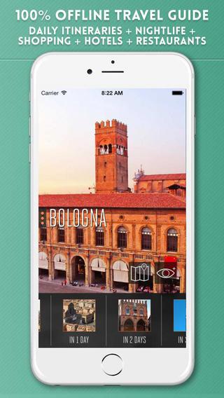 Bologna Travel Guide with Offline City Street Maps