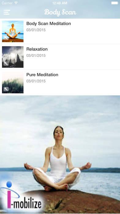 BodyScan Relaxation Meditation iPhone Screenshot 3
