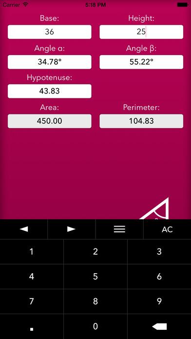 Trigonometry Help iPhone Screenshot 2