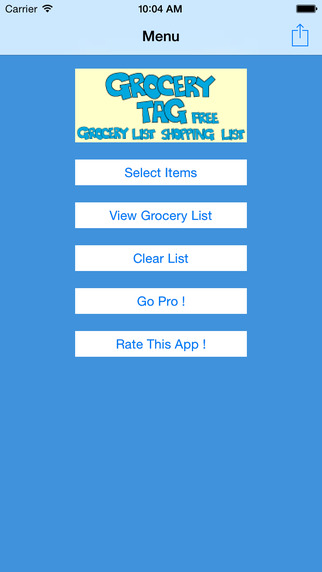 Grocery Tag Free - Grocery List - Shopping List