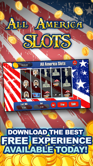 AAA All America Slots Machine - FREE Slots Eagle Wild Way