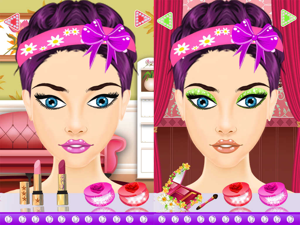 Игры для девочек макияж и одевалки играть