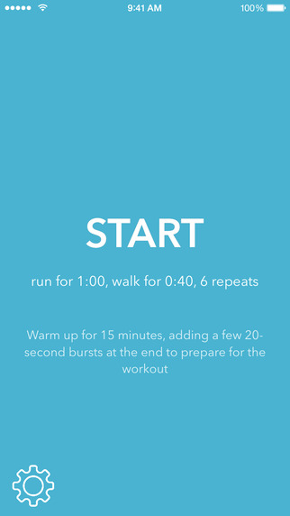 Interval Run - Simple Countdown Timer for Fitness Running Workouts