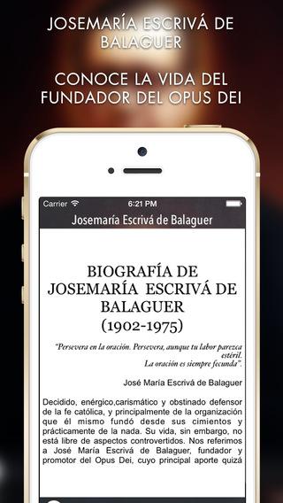 Josémaría Escrivá de Balaguer iPhone Screenshot 2
