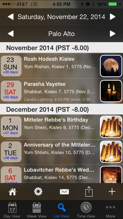 Pocket Luach - The Jewish Calendar (siddur, zmanim) iPhone Screenshot 4