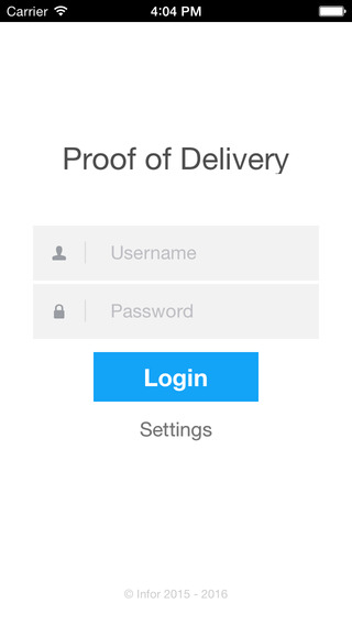 Infor Proof of Delivery Driver