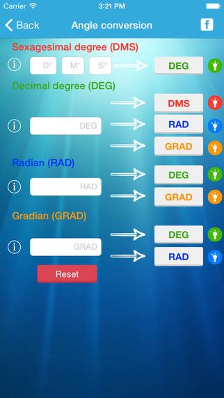Angle Conversion Lite - DMS DEG GRAD RAD