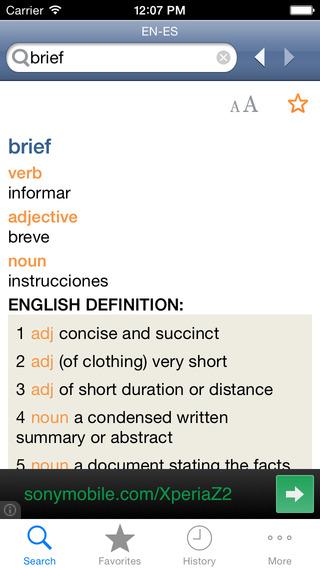 SpanishEnglish Dictionary