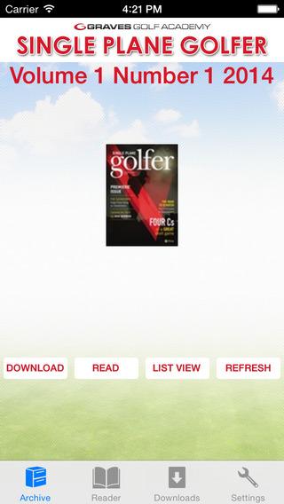 Single Plane Golfer
