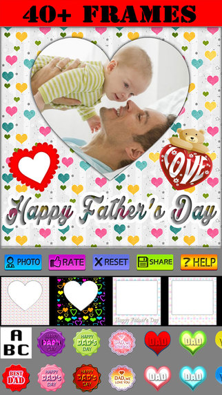 Happy Father's Day Frames and Labels