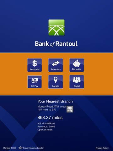 Bank of Rantoul for iPad
