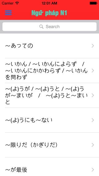Ngữ pháp tiếng Nhật N1-N5