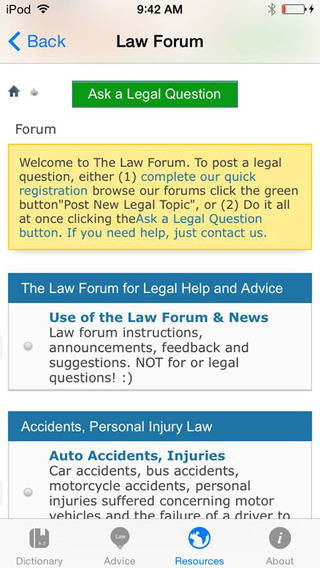 The Law Guide iPhone Screenshot 4