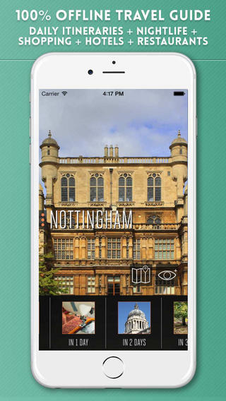 Nottingham Travel Guide - Augmented Reality with Street and Transport Map 100 Offline - Tourist Advi