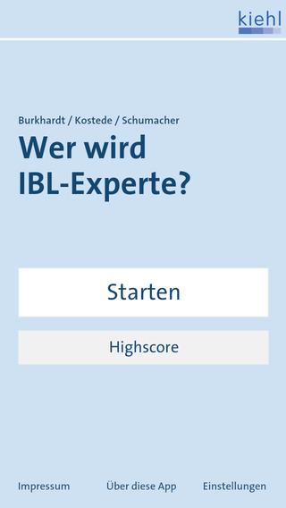 Wer wird IBL-Experte