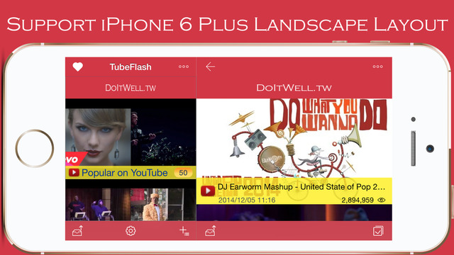 TubeFlash - a simple and powerful video player for youtube