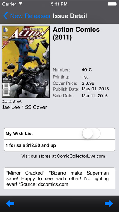Comic Collector Live iPhone Screenshot 4
