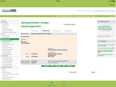 玩財經App|Migros Bank E-Banking Tablet免費|APP試玩