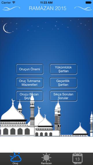 Ramazan ve Imsakiye 2015