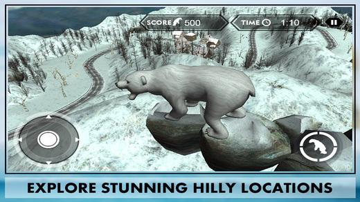 Wild Bear Attack Simulator 3D – lives life of polar bear hunt down the jungle animals