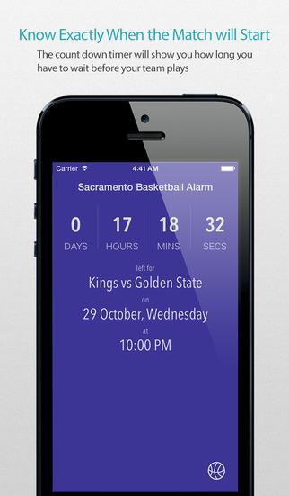 Sacramento Basketball Alarm